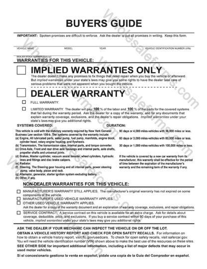 BGE-EZ3AL New York 1-Part Buyers Guide